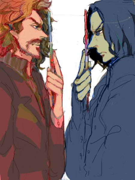 Сиріус Блек (?) і Северус Снейп